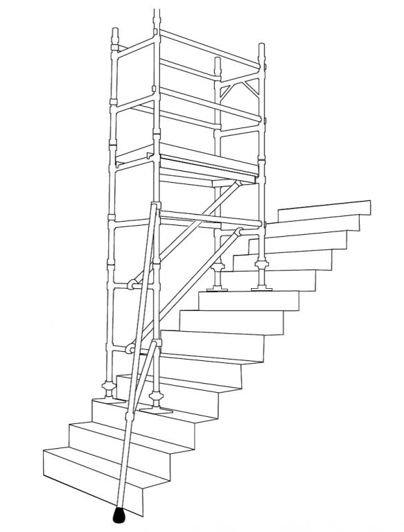 Boss Tower Staircase : Pojízdné lešení boss m sgb harsco klasik emkol